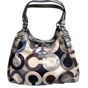 Coach Madison Graphic Op Art Sequin Maggie bag